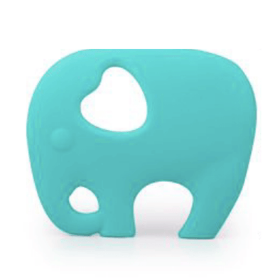 Elephant Teether in Aqua