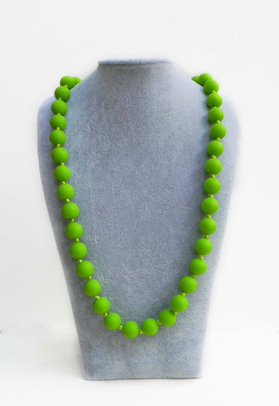 Bola Necklace in Lime