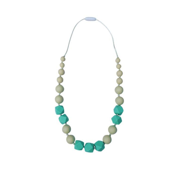 Lotus Necklace in Mint Cream - Halia Rose