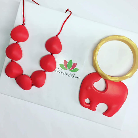 Halia_Rose_award_winning_best_teething_jewellery_in_UK_Kata_necklace_elephant_teether_Hex_bracelet
