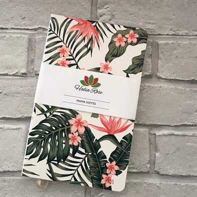 Mama Notes Notebook - Tropical print - Halia Rose