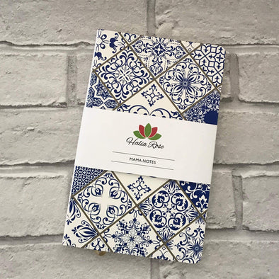 Mama Notes Notebook - Moroccan Blue - Halia Rose