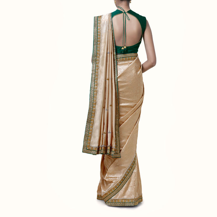 'For My Beloved' Silk-Brocade Banaras Sari with Blouse Piece
