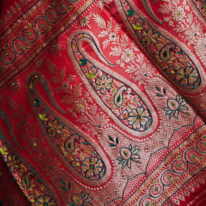 Garden of My Heart - Banarasi katan silk hand embroidered sari only
