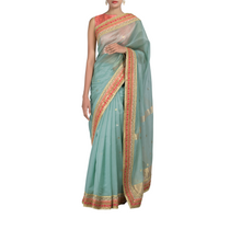 Indus Chanderi Sari with Silk-brocade Blouse Piece