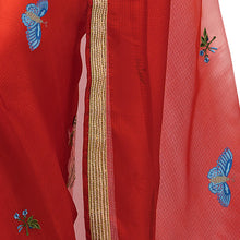 'Jardin de Chine' embroidered silk-kota Sari with blouse piece