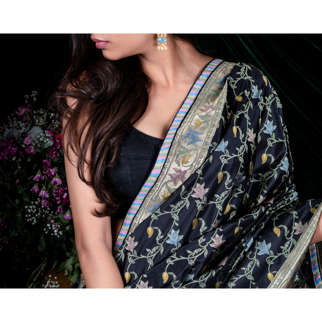 'Queen Of The Night' Banarasi handloom silk sari