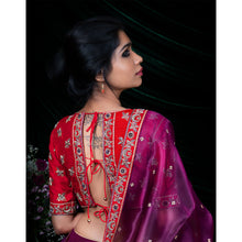 'Twilight Lily' Sequined silk lehenga set with zardozdi embroidery blouse and dupatta by Urvii Mantreh