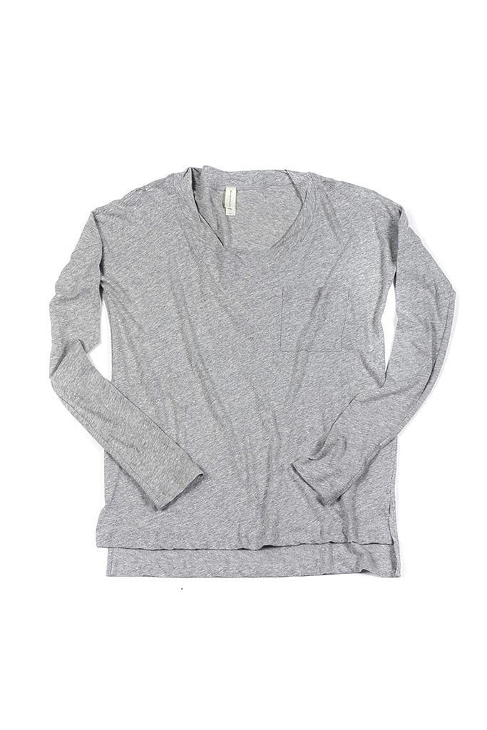 Edith Top in Light Heather Grey