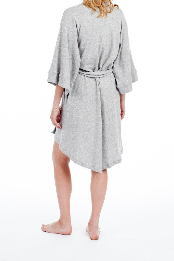 Florence Robe in Light Heather Grey