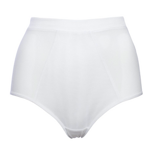 White Mesh High-Cut Panties With Layering In The Front