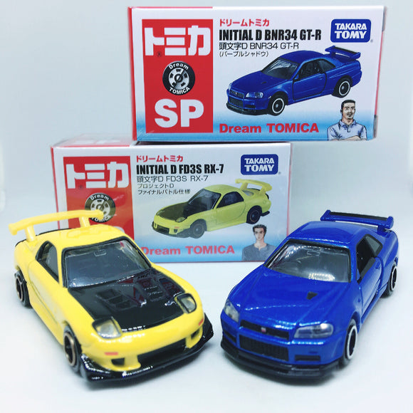 Takara Tomy Tomica | Initial D Nissan Skyline GTR R32 & Mazda RX7 FD3S | Combo