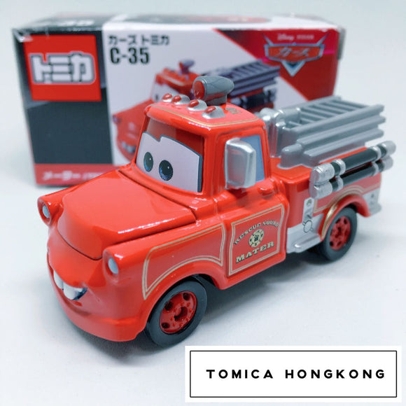 Takara Tomy Tomica | Disney Pixar Cars C-35 Mater Toon Rescue Squad Fire Engines Diecast Car