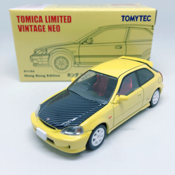Takara Tomy Tomica | Honda Civic Type R EK9 Yellow Hong Kong Limited Edition | Tomica Limited Vintage Neo
