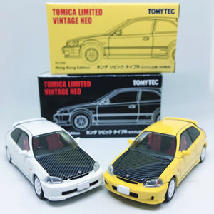 Takara Tomy Tomica | Honda Civic Type R EK9 Yellow and White | Tomica Premium | Combo Deal