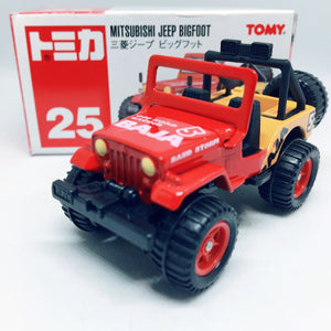 Takara Tomy Tomica | No.25 Mitsubishi Jeep Bigfoot | Red Tomy 2008