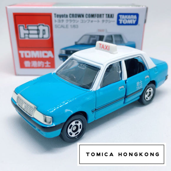 Takara Tomy Tomica | Toyota Crown Comfort Taxi (Blue) | Hong Kong Edition