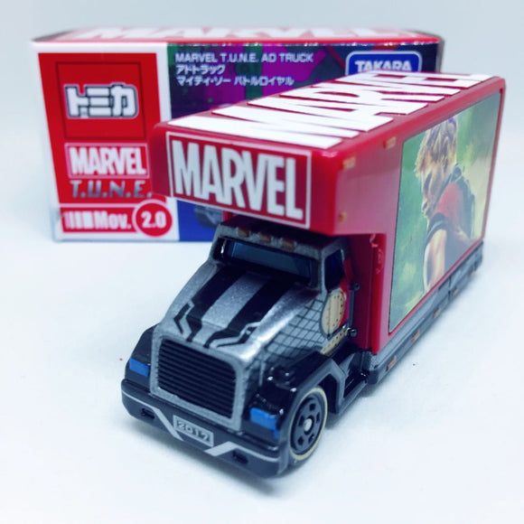 Takara Tomy Tomica | Marvel 2.0 T.U.N.E AD Truck - Mighty So Battle Royale | Marvel Edition - Tomica Hong Kong