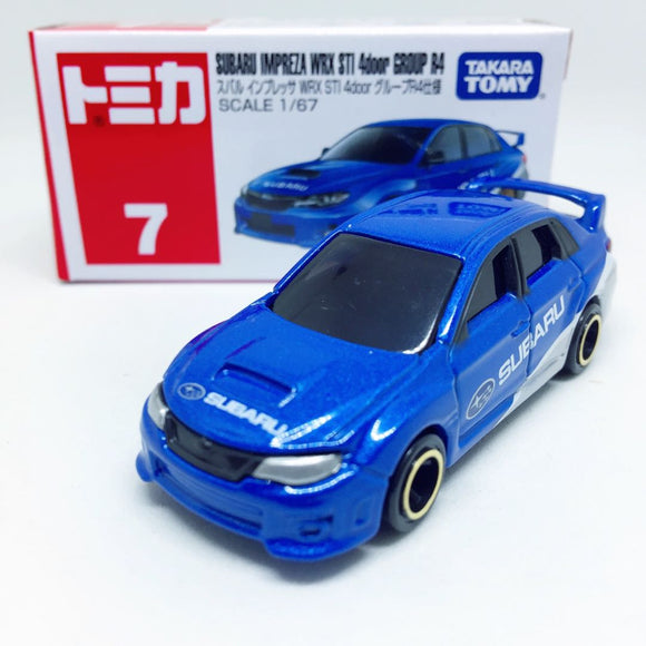 Tomica Takara Tomy Toysトミカ | No. 7 Subaru Impreza WRX STI 4 Door Group R4
