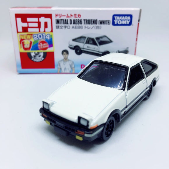 Takara Tomy Tomica | Toyota Trueno Sprinter AE86 White Hood (Hachi Roku) | Dream Tomica - Initial D | (2014 Japanese Edition with Sticker)