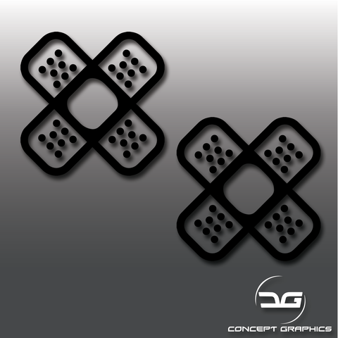 JDM Plaster Bandage Set Vinyl Decal Stickers