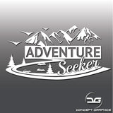 Adventure Seeker Car, Laptop, Camper Vinyl Decal Sticker