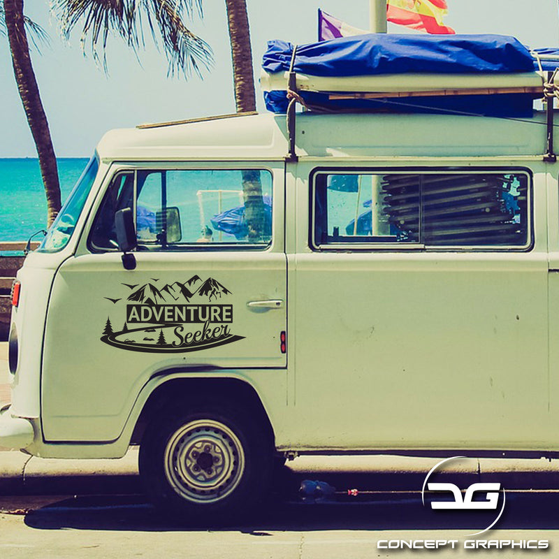 Adventure Seeker Camper Van Decal Sticker