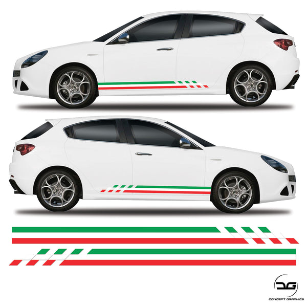 Checkered Alfa Romeo Giulietta Racing Side stripes Italian