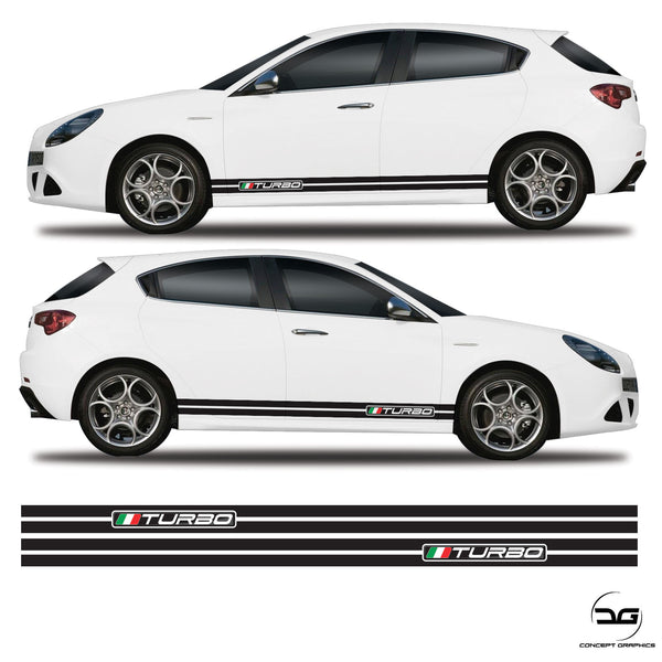 Turbo Italian Flag stripes for alfa romeo giulietta