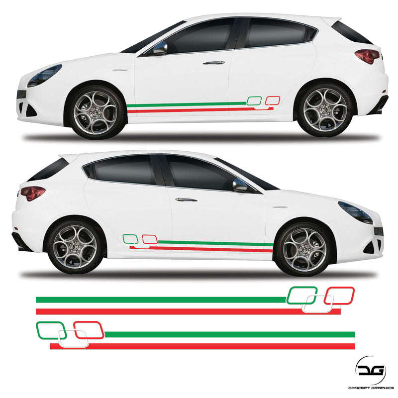 Alfa Romeo Giulietta Racing Italian Square stripes