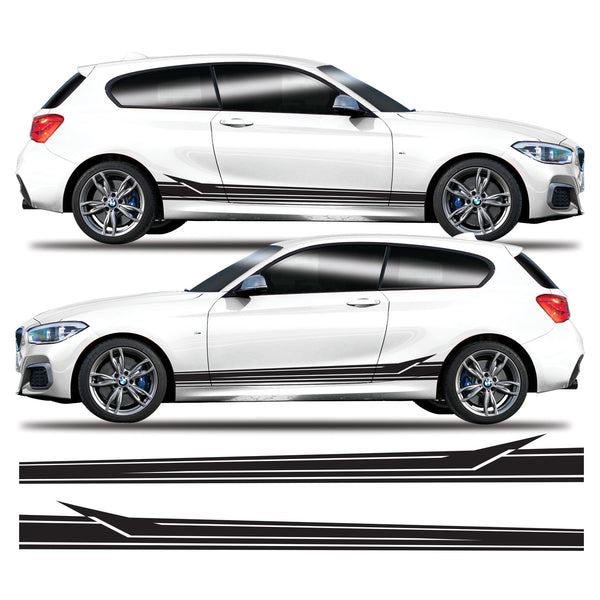 BMW 1 Series Arrow Side Stripes Vinyl Decal Sticker Graphics