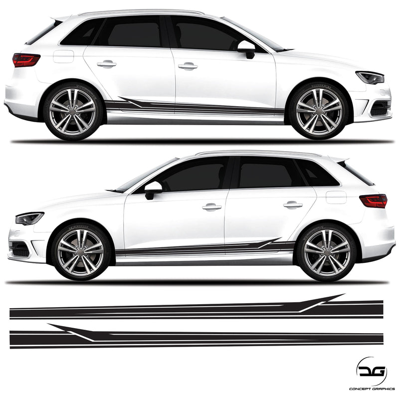 Audi A3 S3 RS3 Body Arrow Racing Side Stripe  8V