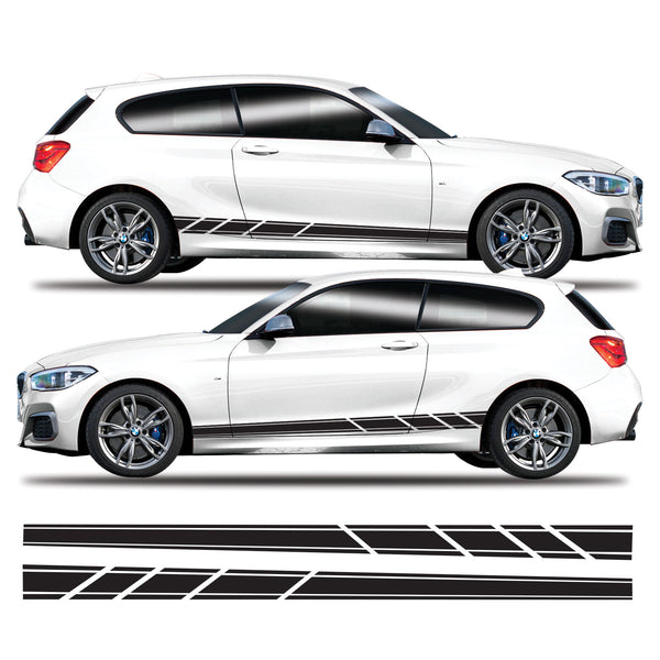 BMW 1 Series Lower Side Stripes Vinyl Decal Sticker Graphics