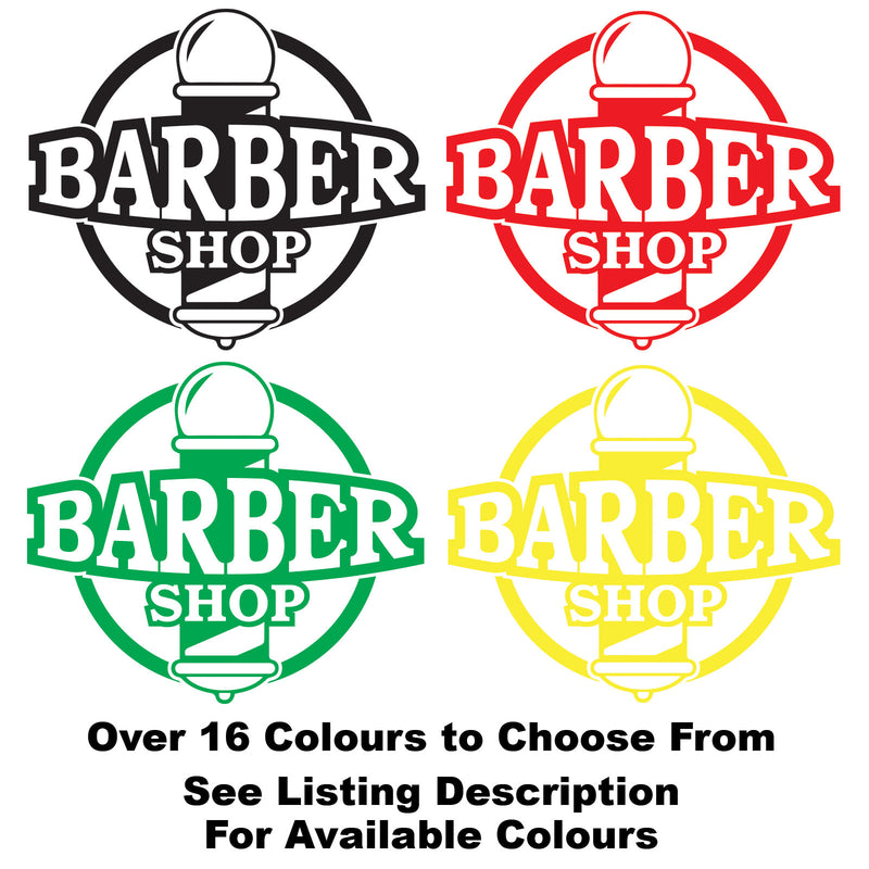 vBarber Shop Pole Personalised Vinyl Decal Sticker Window Wall Door Sign Colour Examples