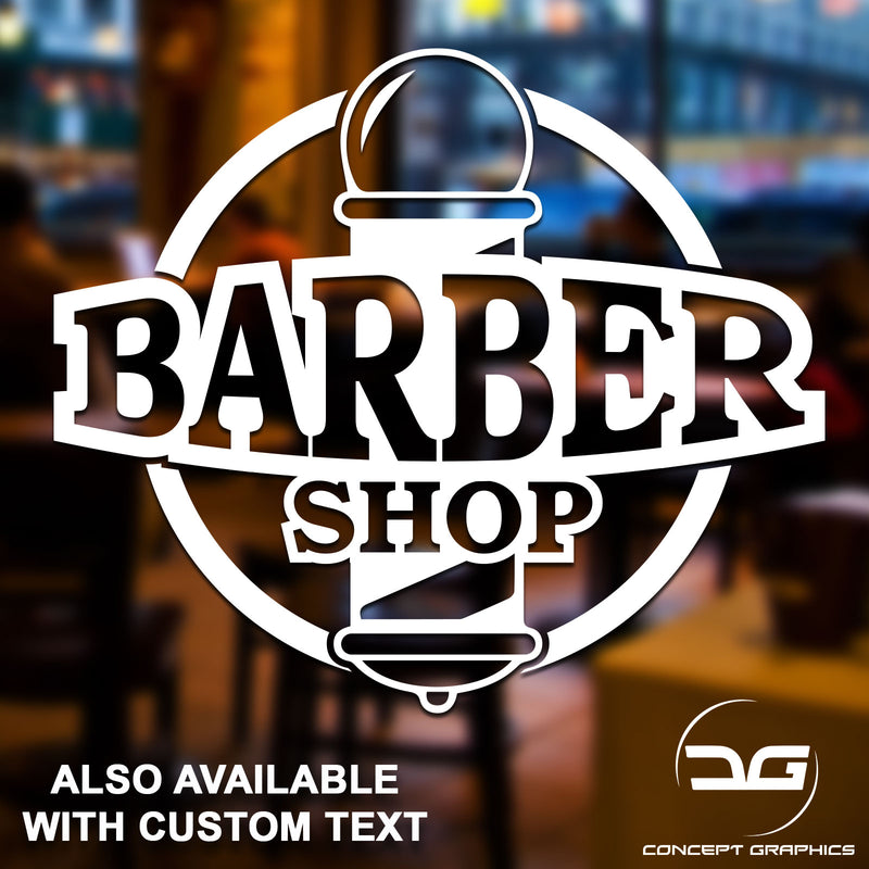 Barber Shop Pole Personalised Vinyl Decal Sticker Window Wall Door Sign