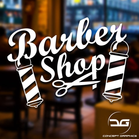 Barber Shop Scissors Window Door Vinyl Decal Sticker Sign