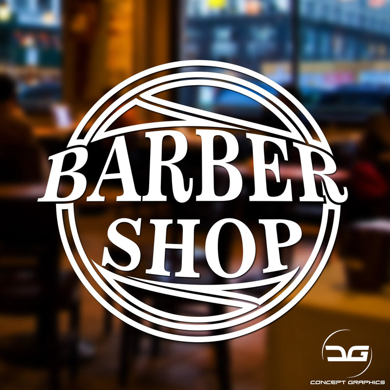 Barber Shop / Salon Business Advertising Window Wall Vinyl Decal Sticker Sign