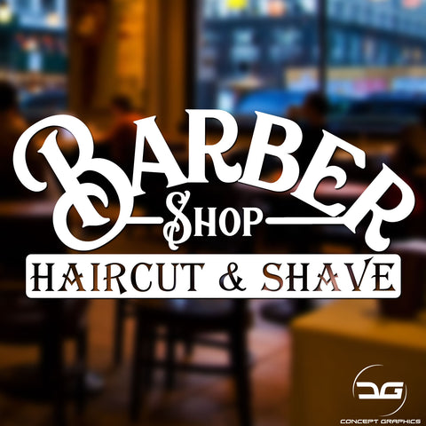Barber Shop Window/Wall Vinyl Decal Sticker Sign Graphic