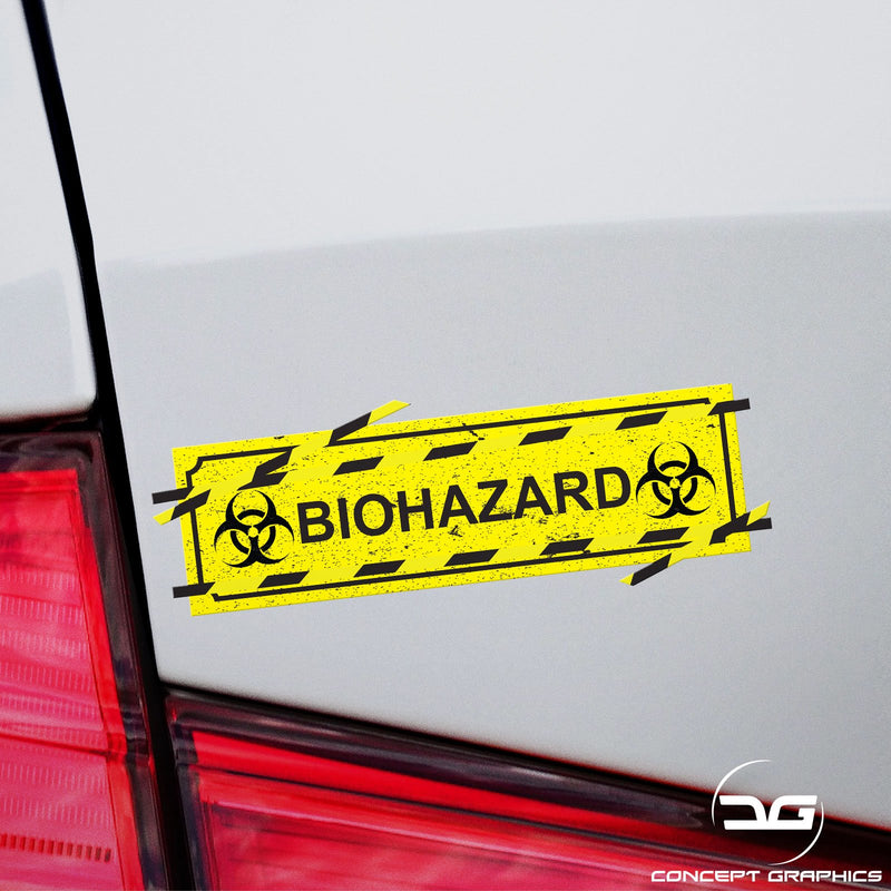 Biohazard Symbol Funny Novelty Car Window Bumper Vinyl Decal Slap Sticker