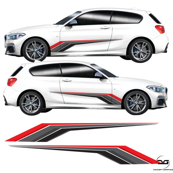 BMW 1 Series Racing Side Stripe Decal Graphics Kit