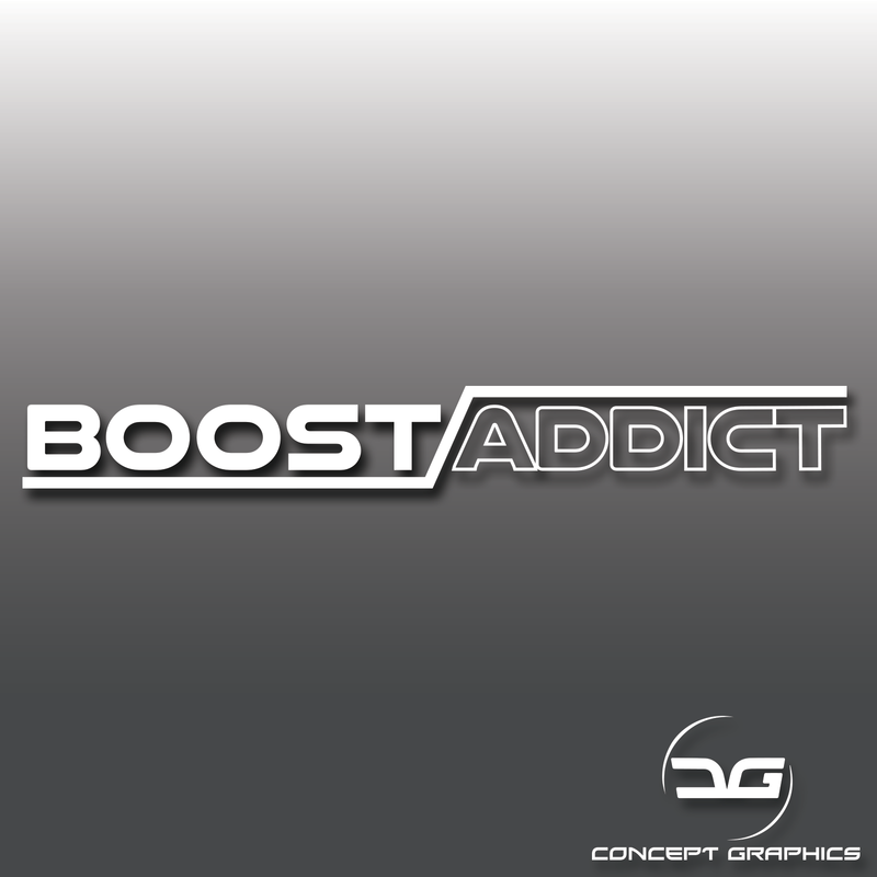 Boost Addict Vinyl Decal Sticker