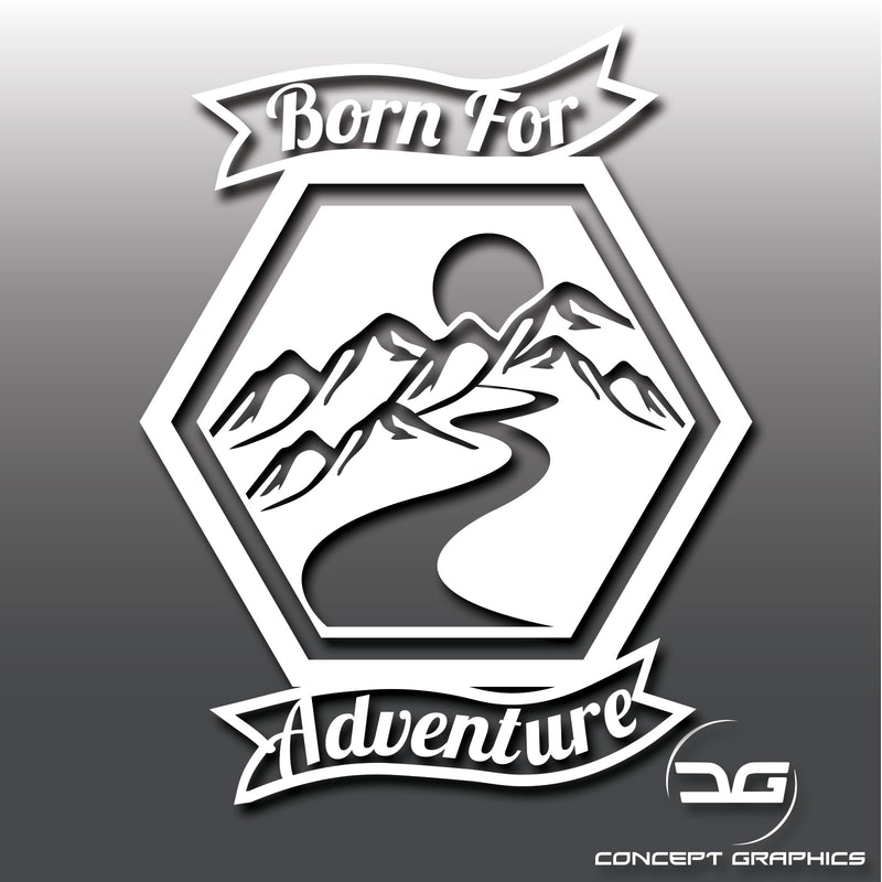Born For Adventure Camping Car Vinyl Decal Sticker Ideal for Volkswagen Transporters