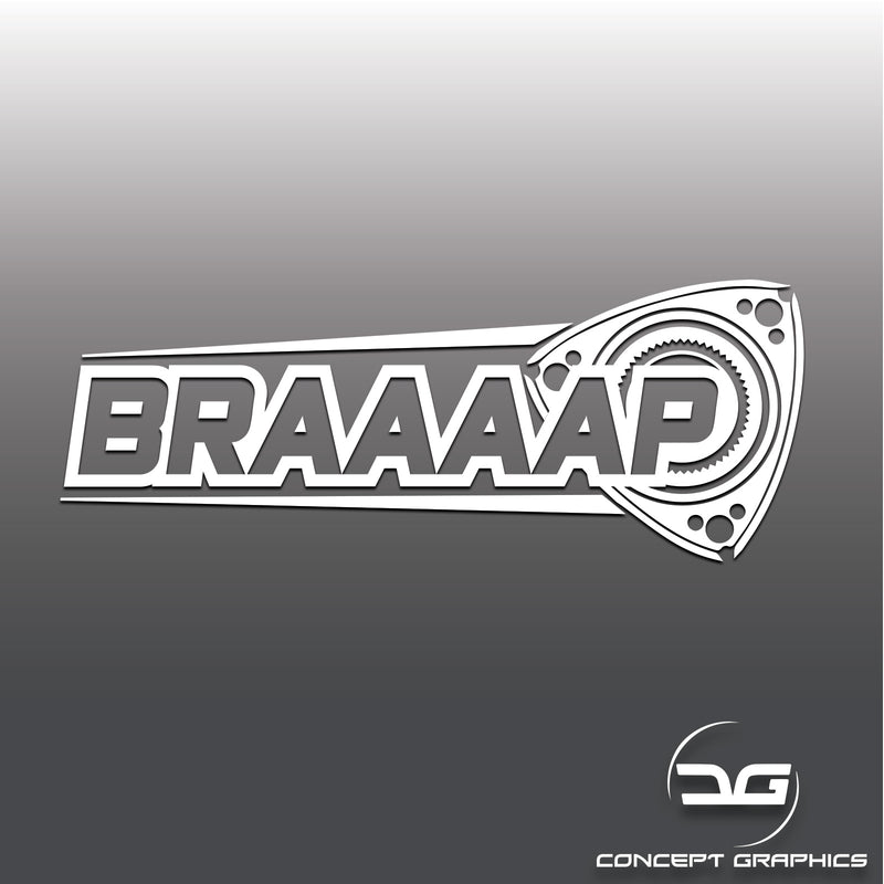 Braaap Funny Rotary Engine Mazda RX8 Car Vinyl Decal Sticker