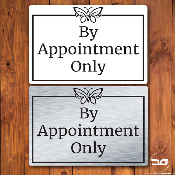 By Appointments Only Notice Wall Mounted Metal Plaque