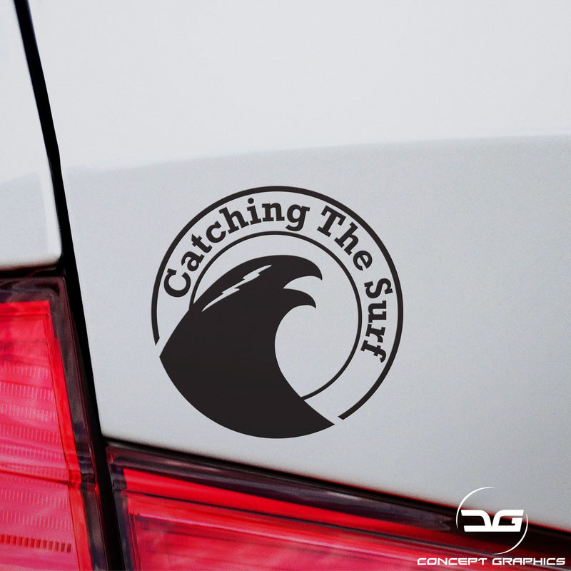 Catching The Surf Funny Car Laptop Macbook Vinyl Decal Sticker Wall Art