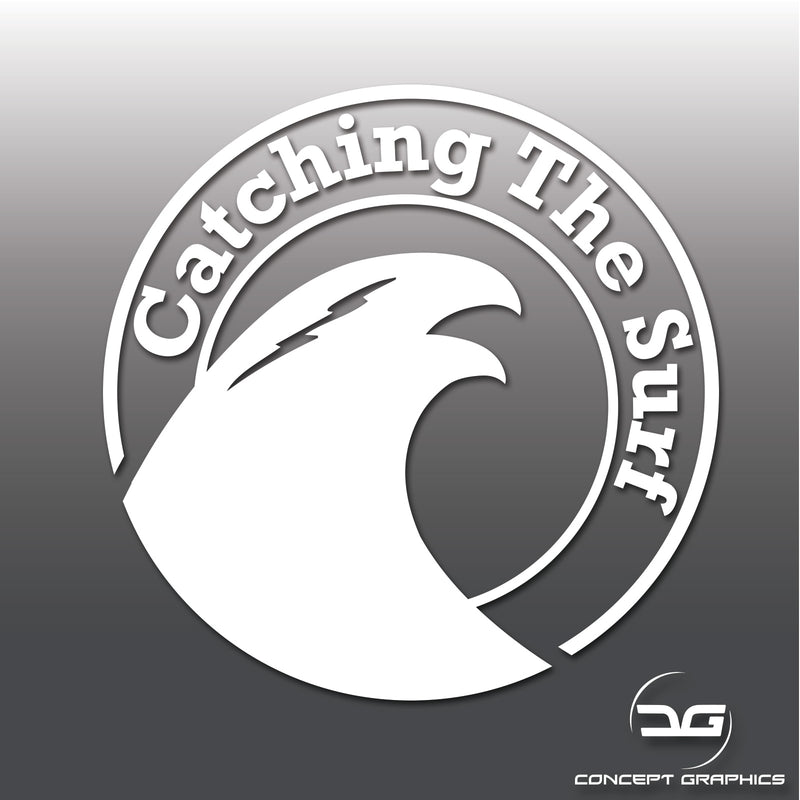 Catching The Surf Funny Car Vinyl Decal Sticker