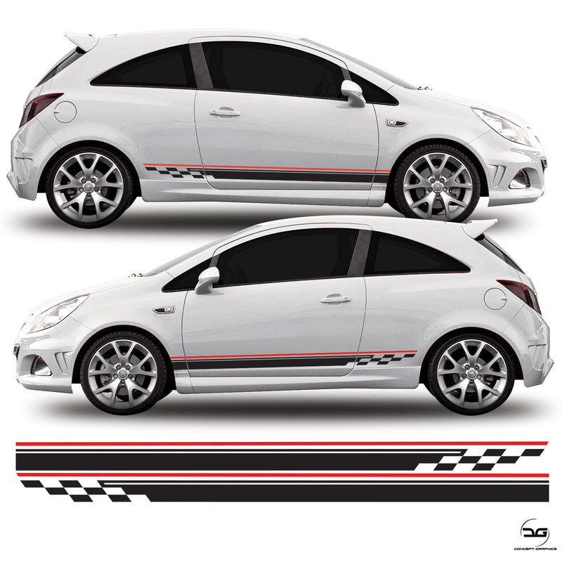 Vauxhall Corsa D VXR Side Stripe Graphics Kit