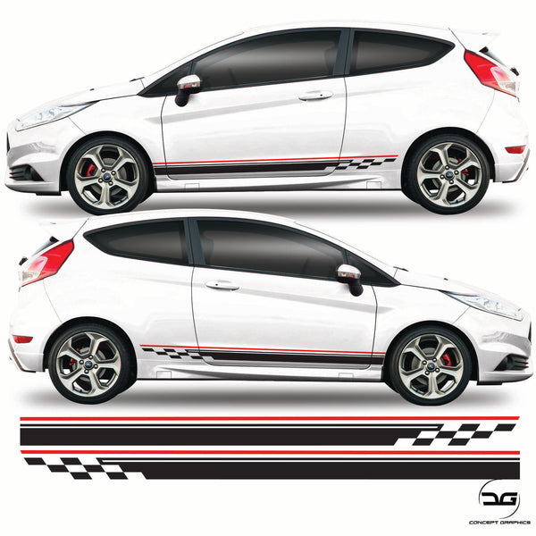 Ford Fiesta St Side Stripes Mk7.5 Decal Kit