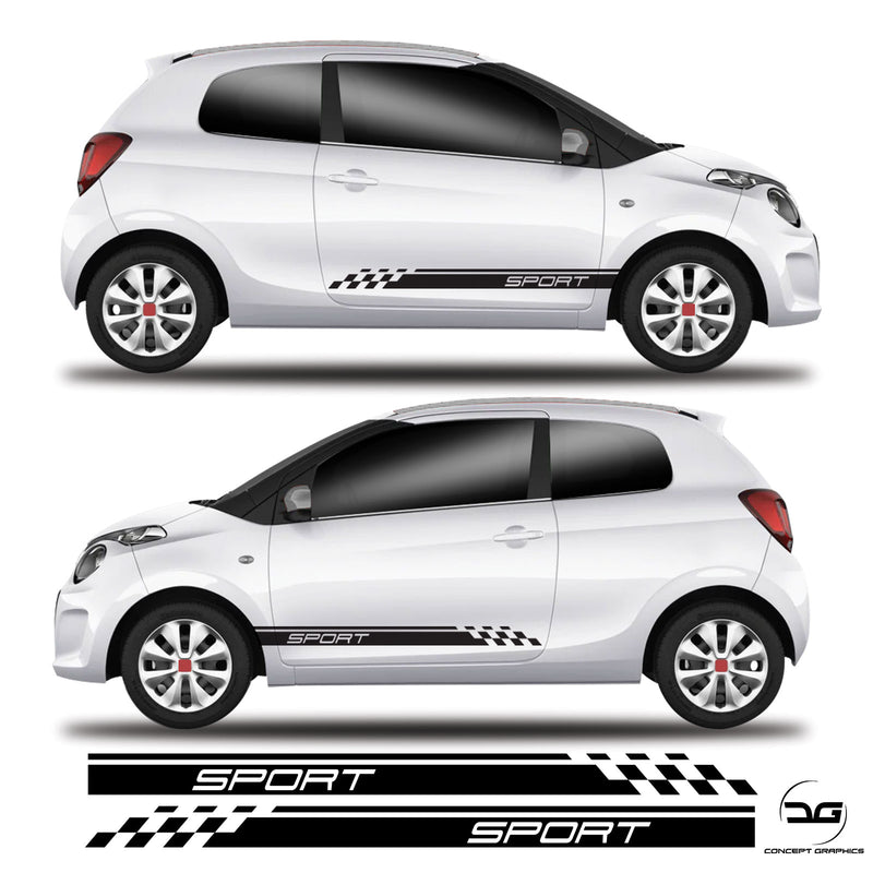 Sport Half Racing Side Stripe For Citroen C1