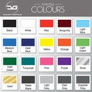Concept Graphics Vinyl Decals Colours to Choose From